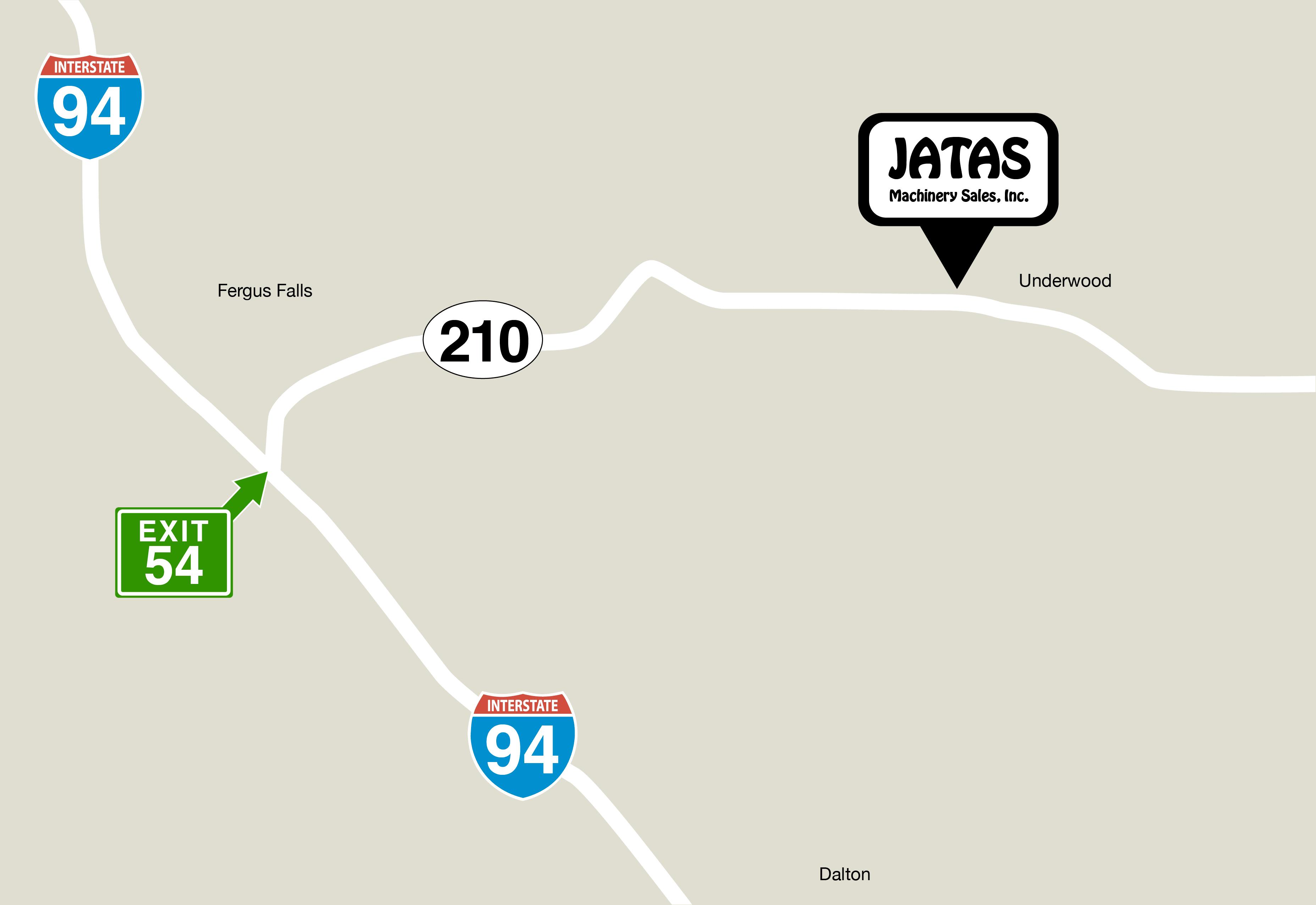 JATAS Machinery Sales Inc. Location Map